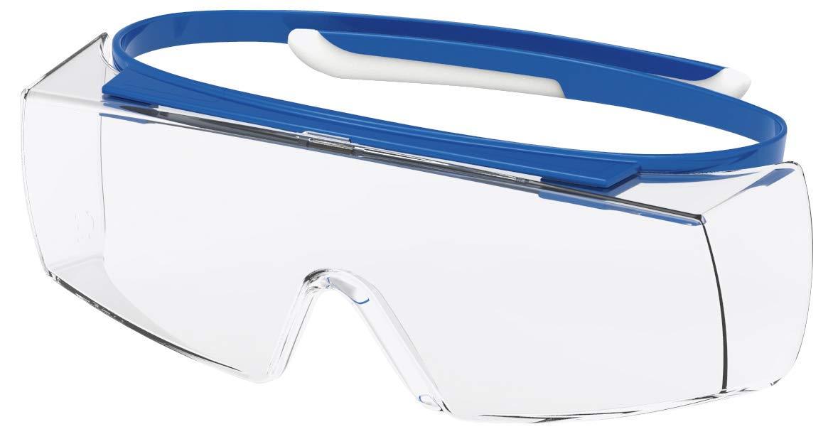 Transp.//Blau-Wei/ß Suprav Excellence Uvex Super OTG Retail Schutzbrille