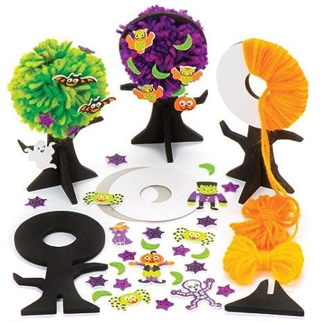 Baker Ross Kit Pompon con Alberi di Halloween per Bambini ... d313f46095dc