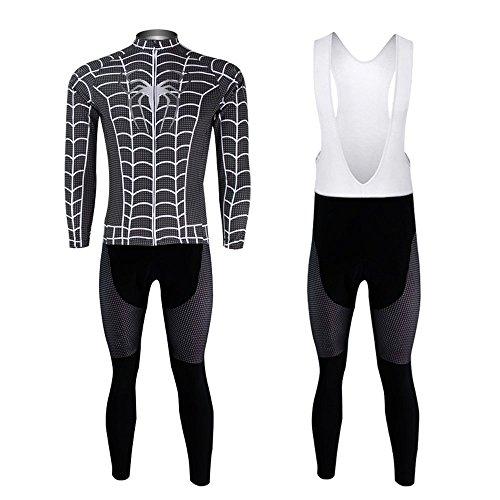 Cplus Outdoor Cycling Spiderman Sportwear Long Sleeve Jersey Set Men Bid XXXL