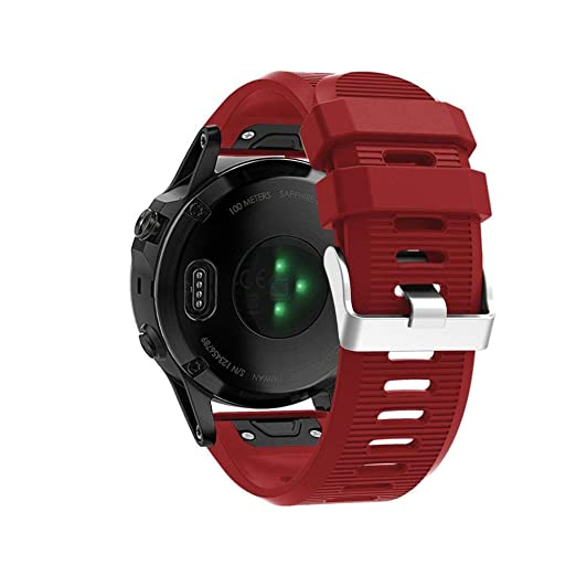 MYQyiyi 26 mm de ancho Correa de Silicona de Reloj para Garmin Fenix 5X Plus: Amazon.es: Relojes