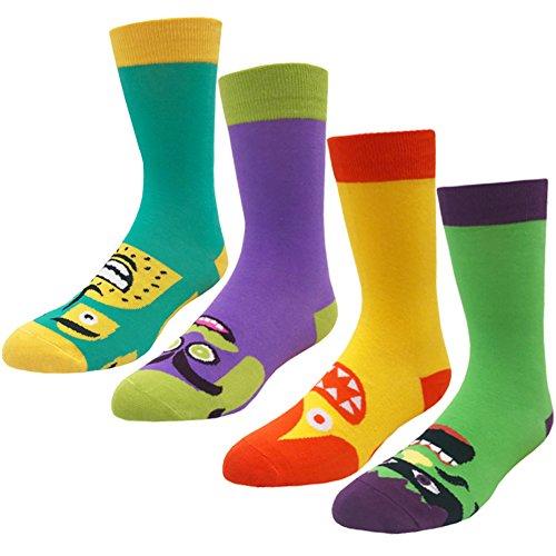 Men's Fun Casual Socks - KoolHour 4 Pack
