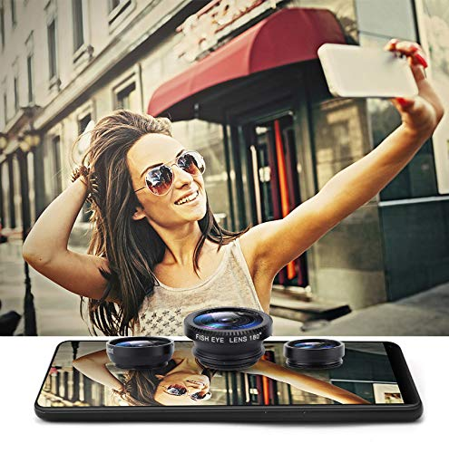 Bigmai 3 in 1 Phone Lens Kit - Macro Lens,Wide Angle Lens,Fisheye, Clip-On Cell Phone Camera Lenses for iPhone Android Samsung Mobile Phones and Tablets (red) by Bigmai (Image #5)