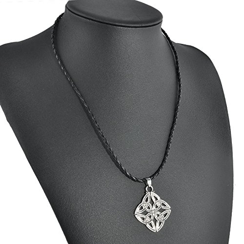 - Retro Vintage Silver Celtic Solar Cross Pewter Pendant with 20