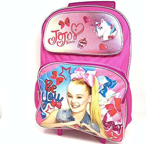 "Nickelodeon JoJo Siwa 16\"" Large Rolling Backpack-15826"