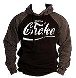 Enjoy A Choke Men's BJJ, MMA Two Tone Hoodie S-2XL (L, Charcoal/Black)