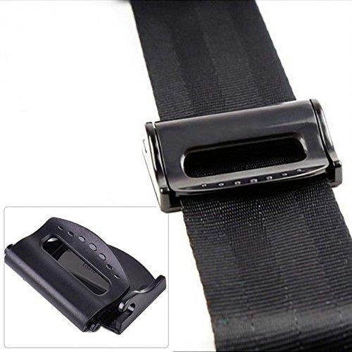fibbia di chiusura regolabile durante la guida o il trasporto come passeggero 2 clip per regolare la tensione della cintura di sicurezza dell/'auto nero colore