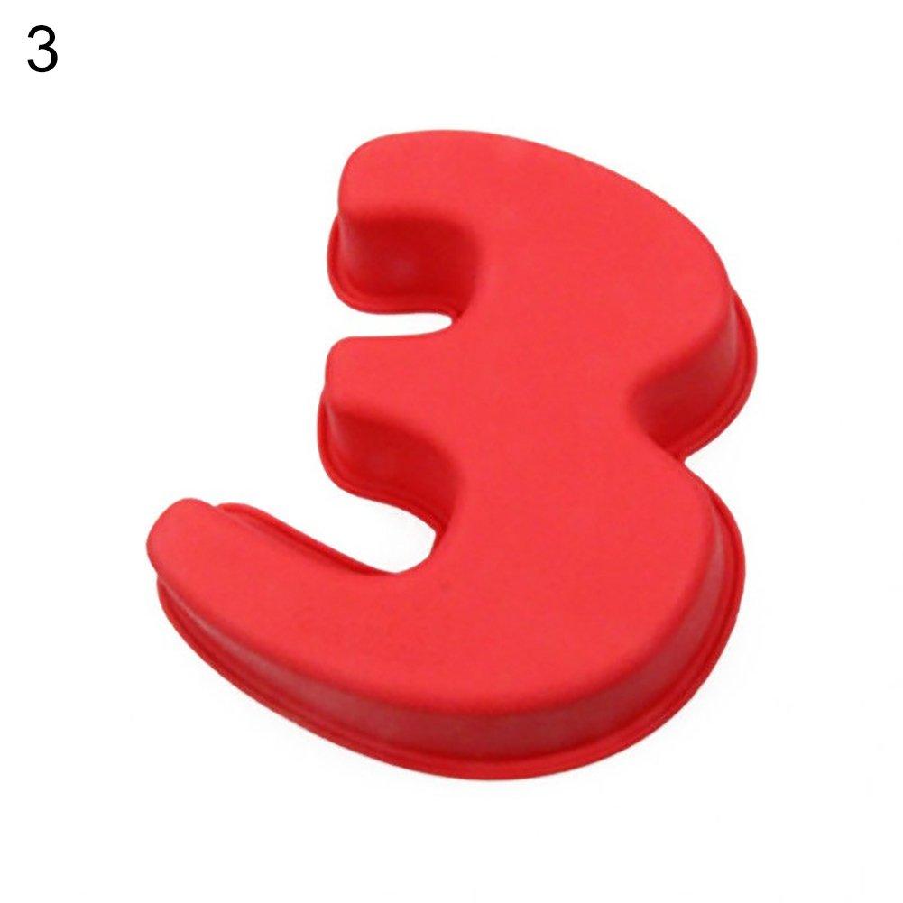 zmigrapdn Molde de silicona para tartas con n/úmero grande de silicona 14.5cm x 17.2cm 0 juego de 9 0 /– 8 moldes para tartas para cumplea/ños aniversario