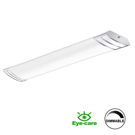 FaithSail 4FT LED Light Fixture 50W 5600lm Flush Mount Linear Lights,  4000K, 1-10V Dimmable, 4 Foot LED Kitchen Lighting Fixtures Ceiling for  Craft ...