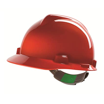 Casco de Protección MSA V-Gard con Ajuste Deslizante PushKey - Casco de Trabajo Casco