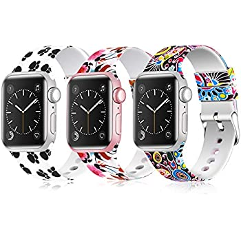 7becb9ea9 Greatfine Sport Band Compatible for Apple Watch Band 38mm 42mm 40mm  44mm,Soft Silicone Strap Replacement iWatch Bands Compatible with Apple  Watch Series 4 3 ...
