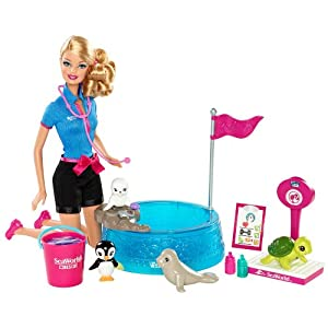 Amazon Com Barbie I Can Be Sea World Baby Animal