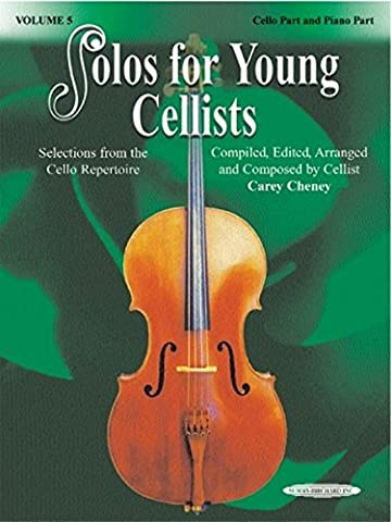 Solos for Young Cellists Cello Part and Piano Acc., Vol 5: Selections from the Cello Repertoire (Learning Cello Dvd)