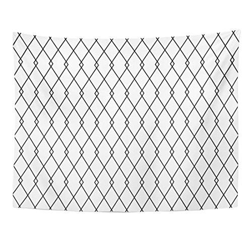 Breezat Tapestry Gray Diamond Pattern Vintage Geometric Harlequin Monochrome Home Decor Wall Hanging for Living Room Bedroom Dorm 60x80 (2 Pierrots Halloween)