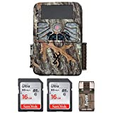 Cheap Browning Recon Force 1080p 4K Video, 32MP Trail Camera (BTC7-4K) with Two Memory Cards and Focus USB Reader