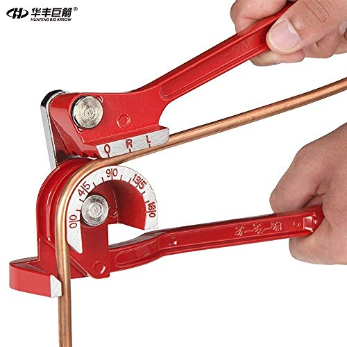 1 piece Tube Bender Brake Line Tubing 5/16 and 3/8 Forming Bending Bender Tool Pliers 6mm/8mm/10mm 3 In 1 Pipe and Tube Bending ()