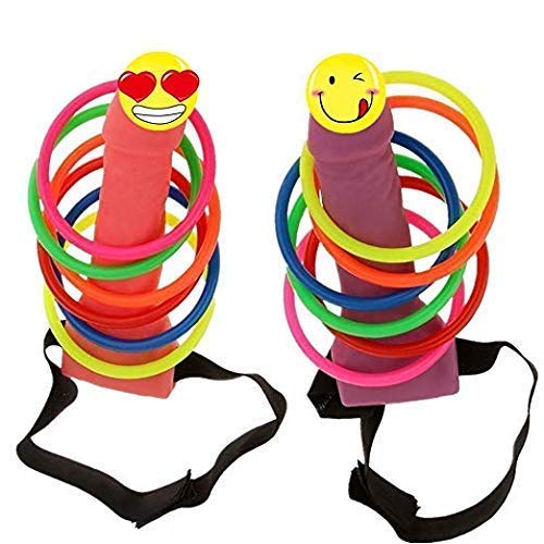 The Only One Bachelorette Party Favor Girls Night Out Hen Party Games - 2 Pcs Ring Toss Hoopla Games Set ()