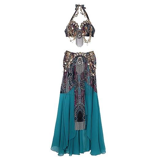 Falda de danza del vientre para mujer Sujetador De Danza Del ...