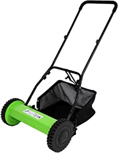 GPOAS 16-Inch Outdoor Power Tools Reel Lawn Mower with Grass Catcher,5-Blade Push Reel Blade Push Reel Lawn Mower