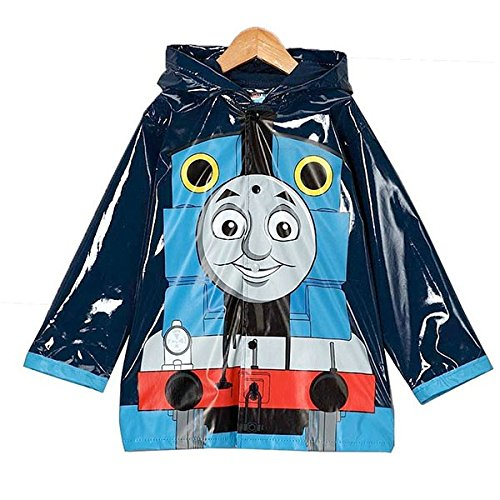 Thomas the Tank Engine Little Boys Waterproof Outwear Hooded Rain Coat - Toddler