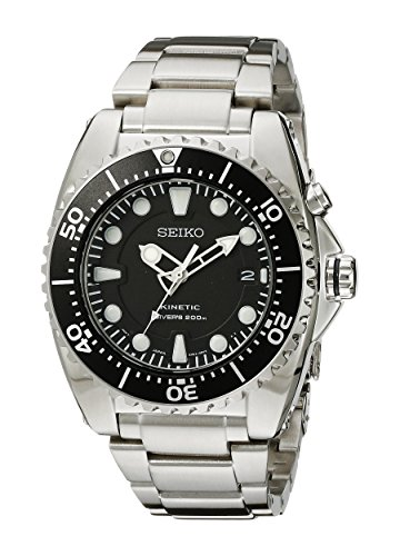 Seiko Men's SKA371 Kinetic Dive Analog Japanese Quartz Stainless Steel...