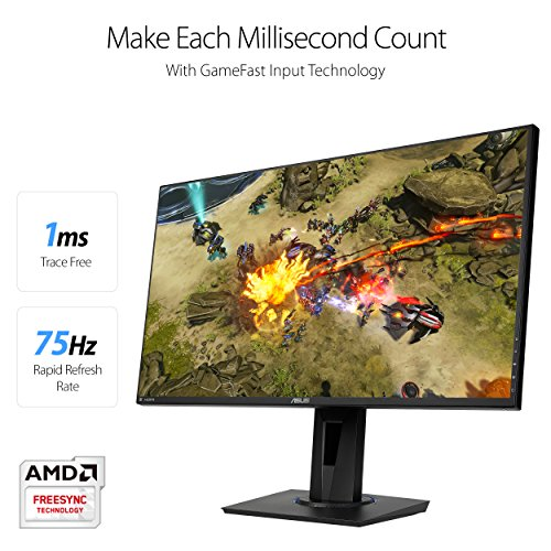 ASUS VG275Q Full HD 1080p 1ms Dual HDMI Eye Care Console Gaming Monitor with FreeSync/Adaptive Sync 27'' by Asus (Image #1)