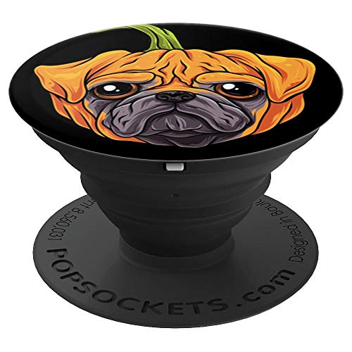 Pugkin Funny Pumpkin & Pug Dog Halloween Kids Boys PopSockets Grip and Stand for Phones and Tablets -