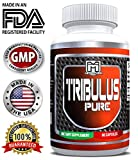 Muscle builder Tribulus Pure by Megathom - Testosterone booster, Improve performance, Vitality and Energy | Build Muscle fast with Tribulus Pure | 90 capsules