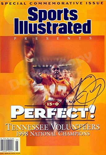 Tee Martin 1997 National Champions Sports Illustrated Autograph Replica Poster - Tennessee Volunteers