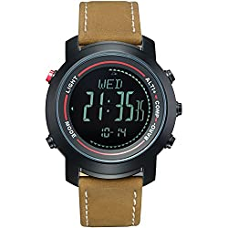 Spovan Mens Pedometer Compass Altimeter Stopwatch Sports Military Watches
