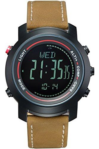(Spovan Digital Watch Altimeter Barometer Compass Pedometer Outdoor Sports Fitness Tracker)