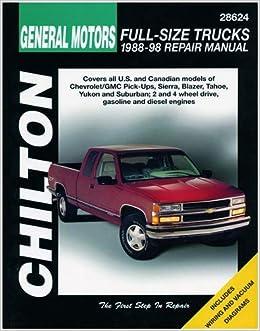 chilton gm full size trucks 1988-1998 repair manual (28624): 0035675080552:  amazon com: books