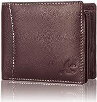 Hornbull Mens Leather RFID Blocking Wallet (Brown)