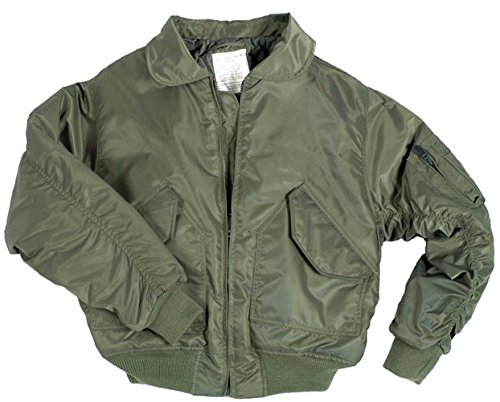 Military Flyers Jacket (Mil-Tec US CWU Flight Jacket Basic Olive size M)