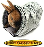 Rabbit Snuggle Tunnel Reversible Small Animal Pets Tunnel Cage Hutch Bed Rabbit Guinea Pig Ferrets