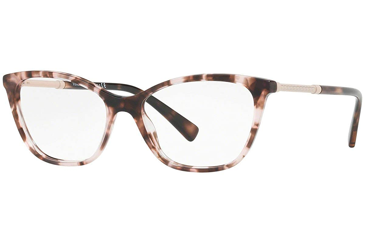 1f80d3bf673 Amazon.com  Versace VE3248 Eyeglasses 52-16-140 Pink Havana w Demo Clear  Lens 5253 VE 3248  Clothing
