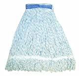 Wilen A11403, E-Line Finish Looped End Wet Mop, Large, 5'' Mesh Band, Blue/White (Case of 12)
