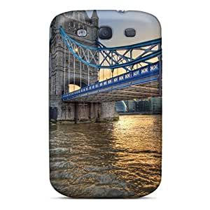 Hard Plastic Galaxy S3 Case Back Cover,hot Wonderful Tower Bridge In London Hdr Case At Perfect Diy