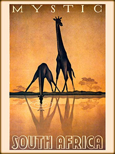 (A SLICE IN TIME Mystic South Africa Giraffe Giraffes Vintage Travel Advertisement Art Poster Print. Poster Measures 10 x 13.5 inches)