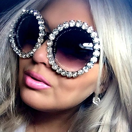 YABINA Oversize Fashion Luxury Diamonds Round Sunglasses (1)