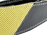 Pete Schmidt Handcrafted Leather Guitar Strap - Two-Tone: Black with Tweed