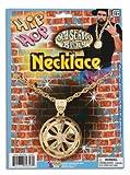 Hip Hop Spinning Necklace - Gold