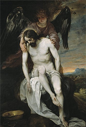 Oil Painting 'Cano Alonso Dead Christ Held By An Angel 1646 52 ' Printing On Perfect Effect Canvas , 18 X 27 Inch / 46 X 67 Cm ,the Best Wall Art Artwork And Home Decoration And Gifts Is This Imitations Art DecorativeCanvas Prints - Dj Dead Mouse Costume