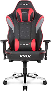 AKRacing Masters Series Max Gaming Chair with Wide Flat Seat