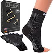 FIT NATION Plantar Fasciitis Support Socks for Weak Ankles, Arches, Heels (2 Pairs) Ultimate Compression Sleeves For…
