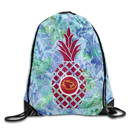 Iowa String Pack - PKTWO Cinch Pack Iowa State University Pineapple Camping Drawstring Bag