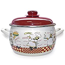 Enamel Pot \'Kitchen Boy\' 2.2 Liters
