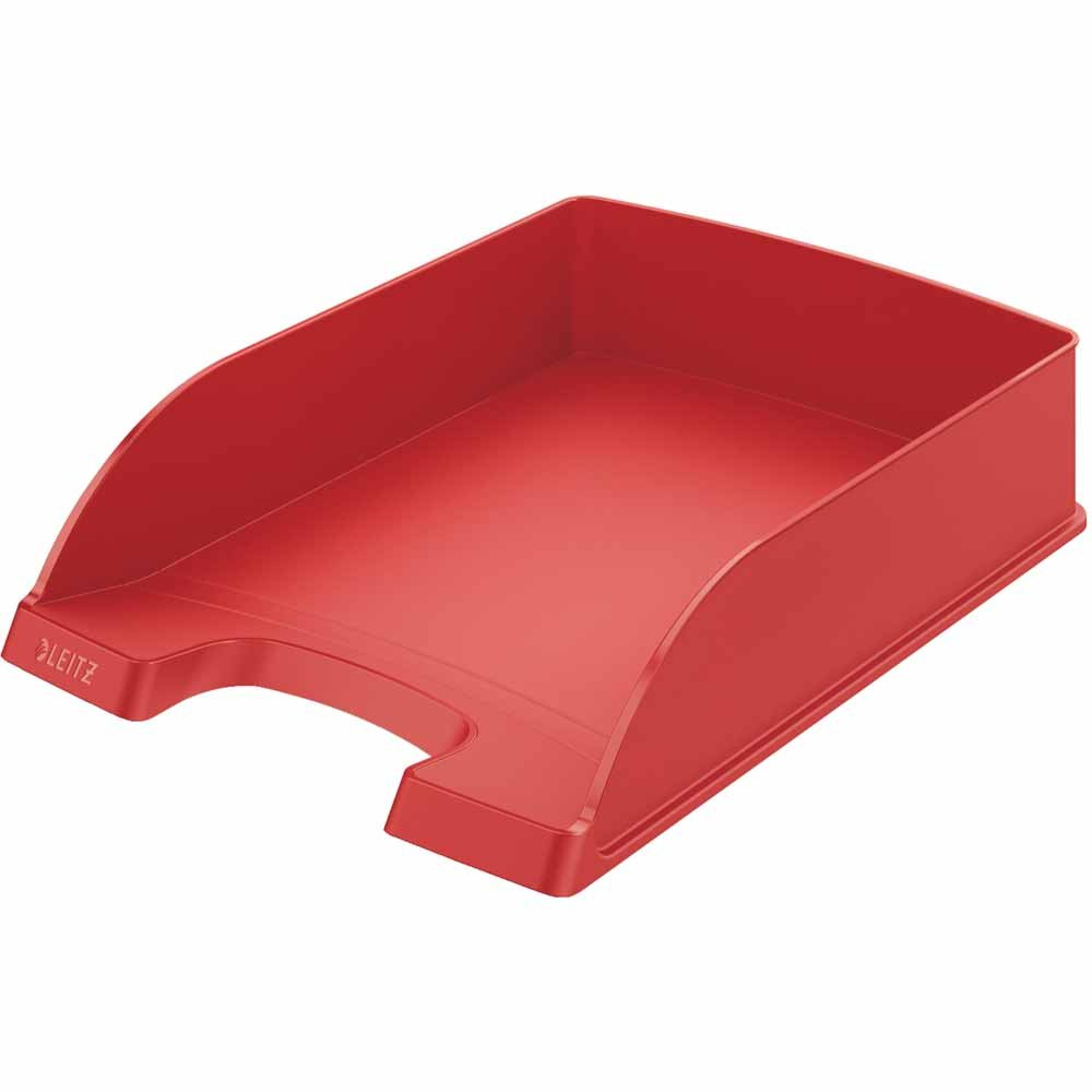 Leitz Plus Briefkorb Standard hellgr/ün   5 St/ück A4 Polystyrol