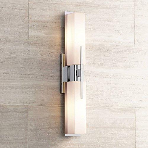 (Midtown Modern Wall Light Chrome 23 1/2