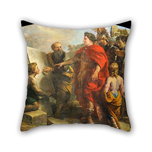 [Loveloveu Pillowcover 20 X 20 Inches / 50 By 50 Cm(each Side) Nice Choice For Dance Room,dinning Room,lounge,girls,couch,gf Oil Painting Charles De La Fosse - Auguste Fait Bâtir Le Port De] (Fosse Dance Costumes)