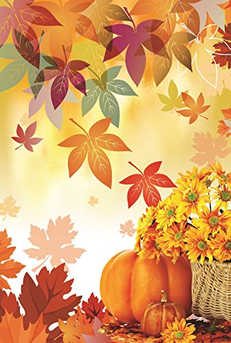 Fall Leaf Pumpkin Garden Flag 12.5 x 18 Autumn Two Sided Yar